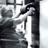 Hans HARTUNG (1904 - 1989) - Photograph of Hans Hartung working in his studio - Antibes, France