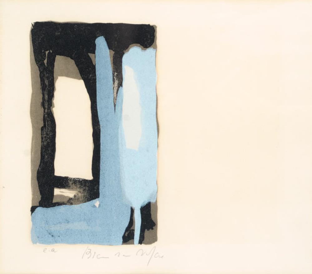 Blue and Black Abstract – Door ±1955