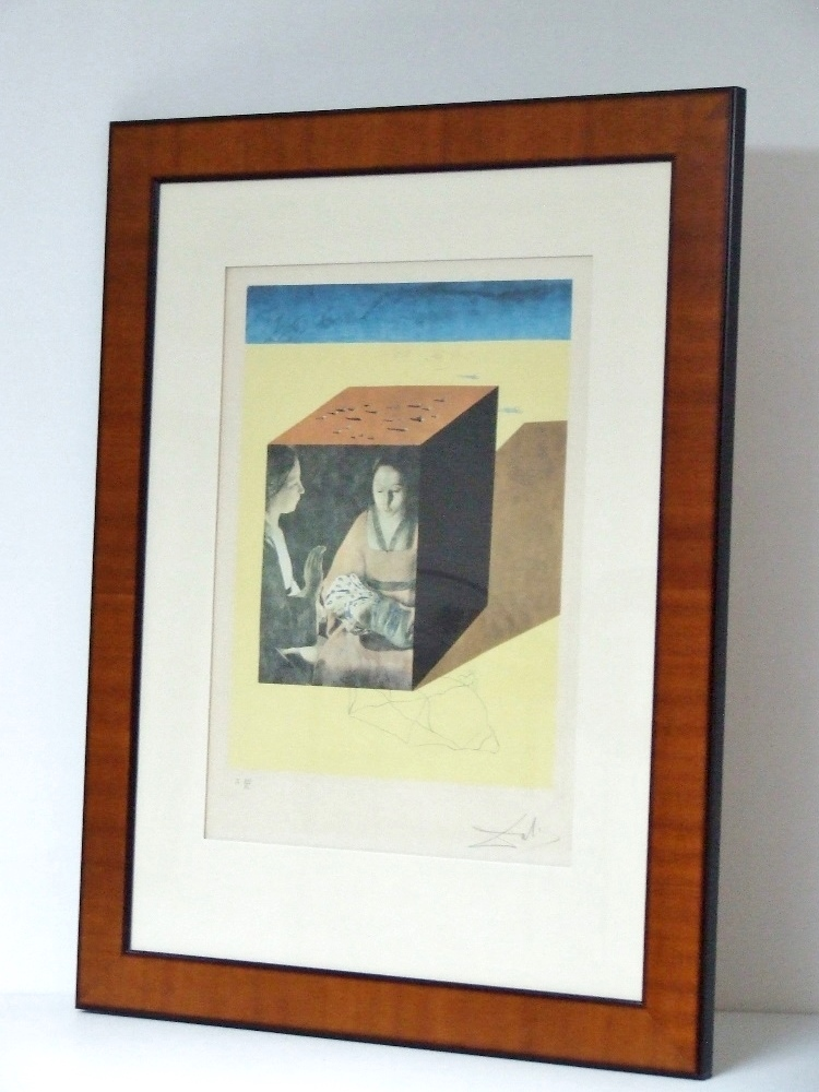 Salvador-DALI (1904 – 1989) Etching and lithography – Caring for a surrealistic watch, 1971 – With frame