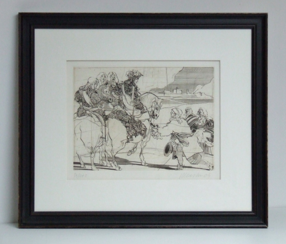 Claude WEISBUCH (1927 – 2014) Gravure – Le grand Siècle, 1981 – With frame – YLA