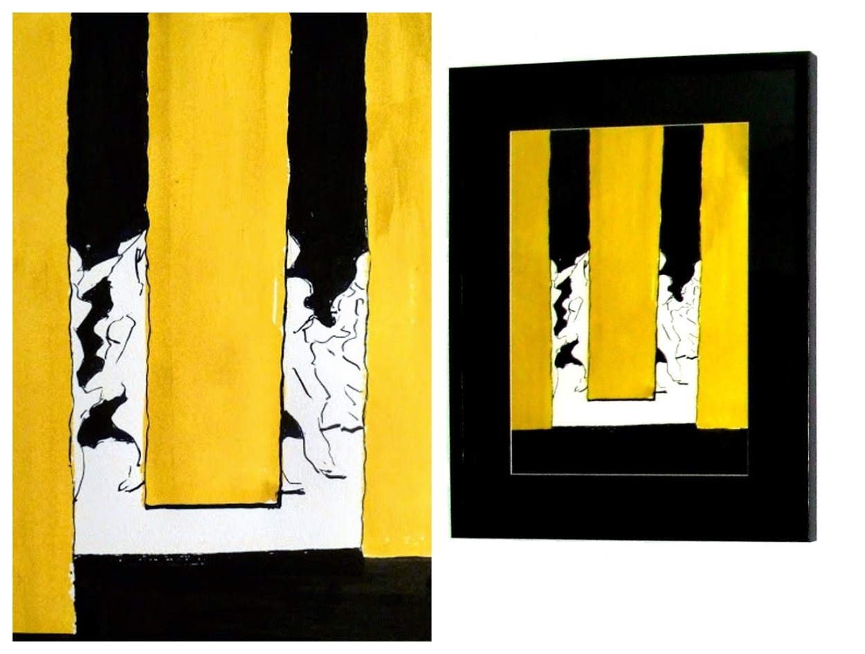 behind the yellow curtain , 2014