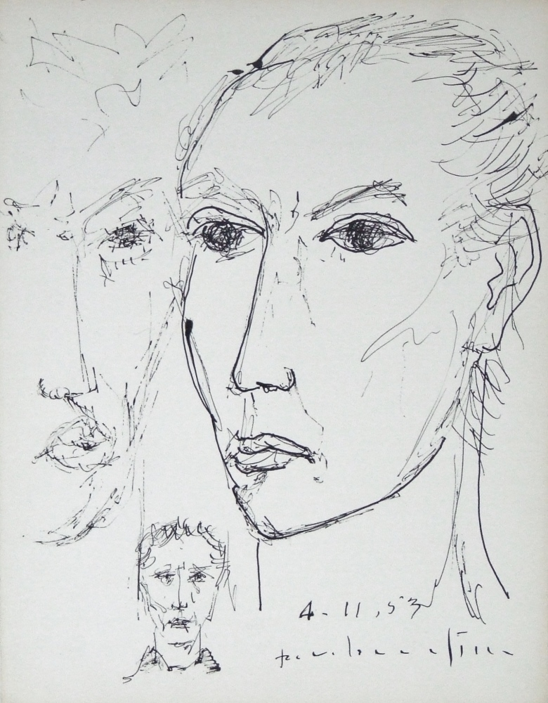 Study of faces dated 1953