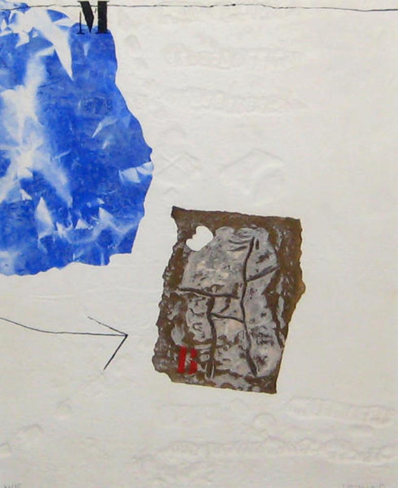 Perturbation du blanc, 1981 – (M blue) – (White disturbance)