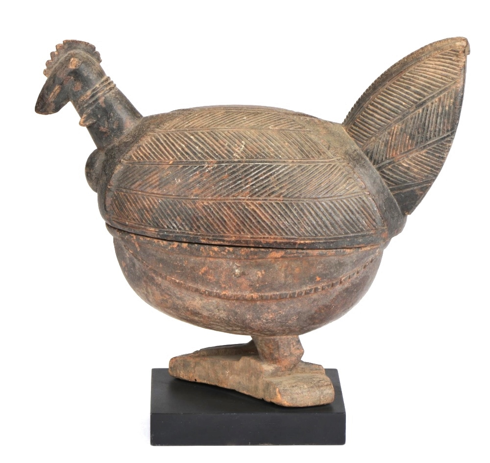 An Open Igede Ifa wood carved bowl