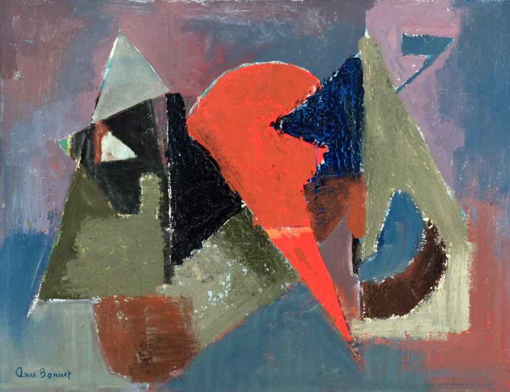 Oil on canvas : Formes, 1959 (Forms)