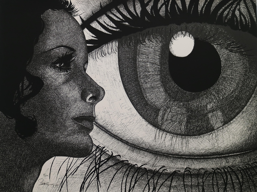 Untitled dated: 1978 – (Eye and woman)