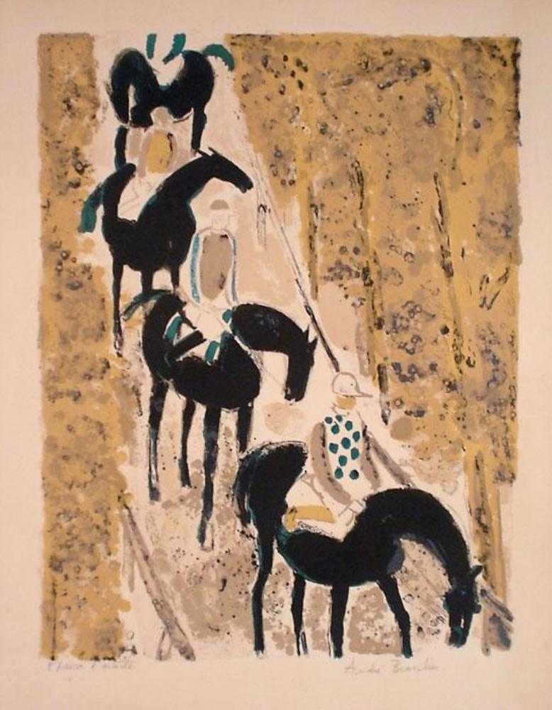 Jockeys sur la Neige, 1963. (Jockeys on the Snow)
