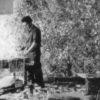 artist Jean-Paul Riopelle (1923-2002) in 1952