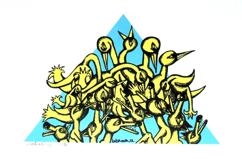 LABRONA-Lying-in-wait-blue-yellow-2012