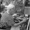 Theo Tobiasse dans son atelier Août 2010