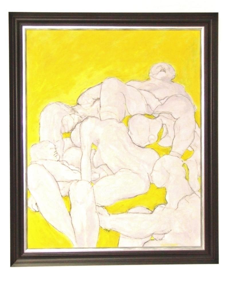 H. SCHLAGEN (1959) Acrylic and charcoal on cardboard – Es ward fleisch, 2017