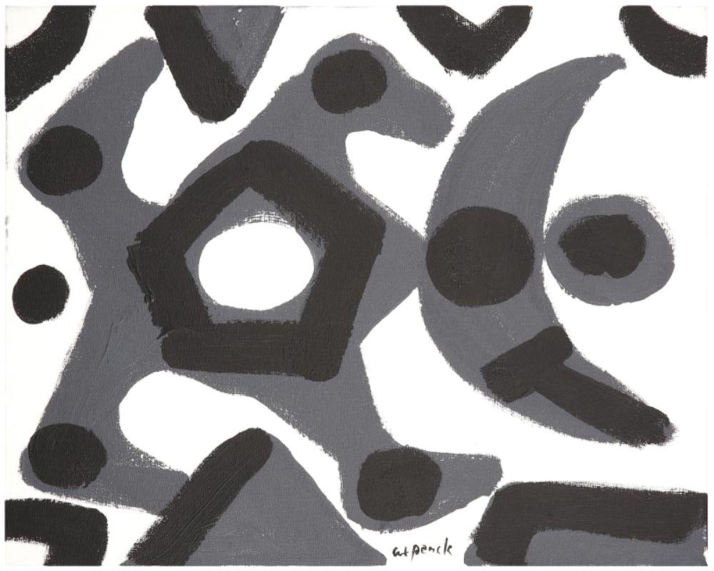 Untitled black and white composition circa 1995.