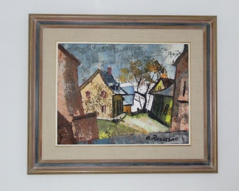Albert ROUSSEAU (1908 – 1982) – Oil on canvas -Côte du passage, Lévis circa 1975 – With Frame