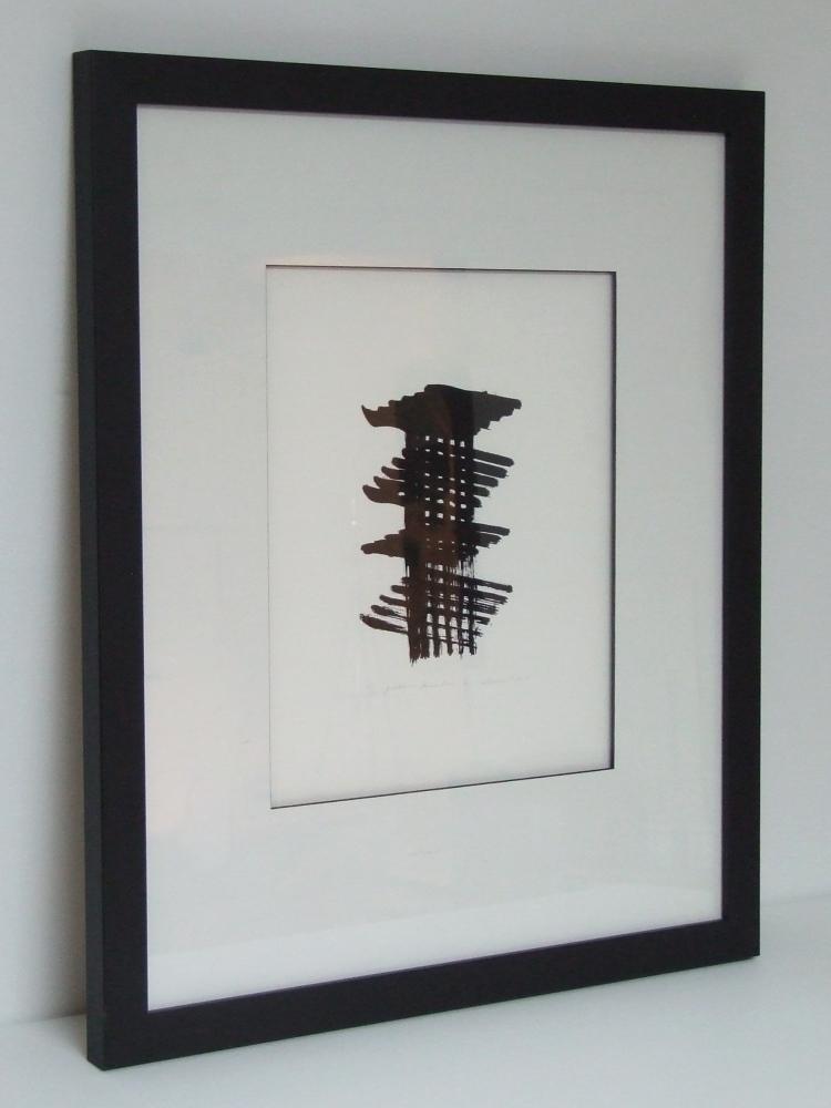 Armand VAILLANCOURT(1929) Sérigraphie sur papier Stonehenge -Quatrième dimension, 2004 – Avec Cadre