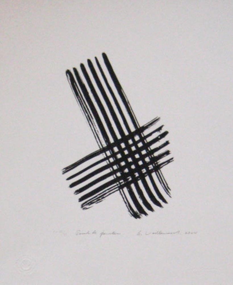 Armand VAILLANCOURT(1929) Sérigraphie sur papier Stonehenge – Point de junction, 2004
