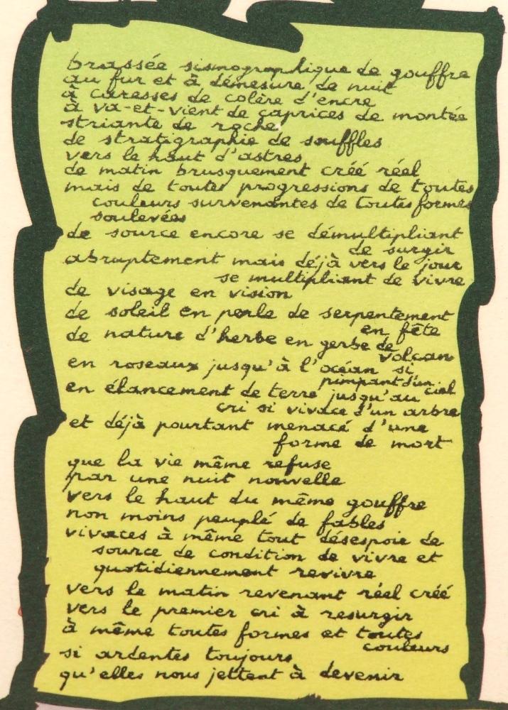 Text Brassée sismographique