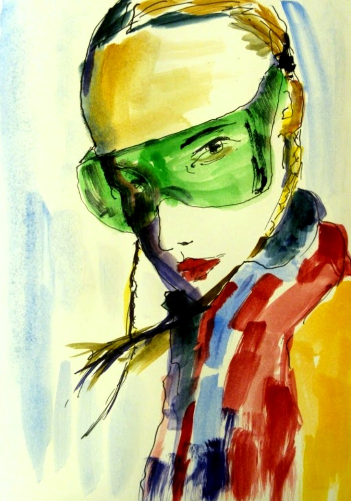 girl with green glasses 2015