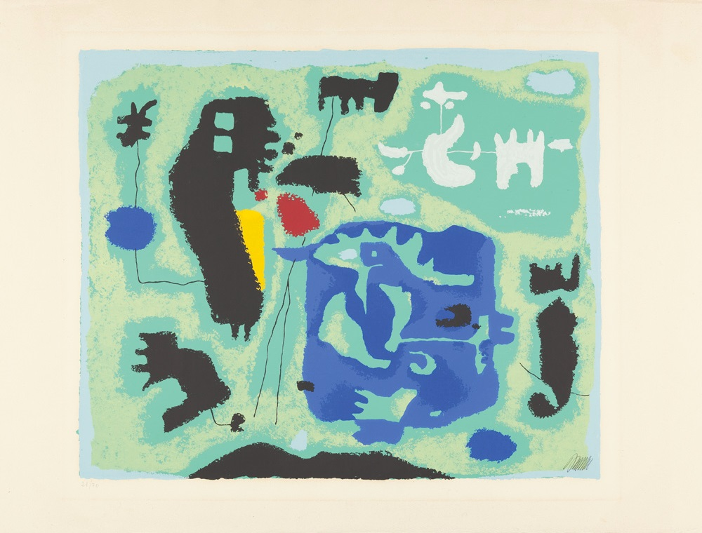 Komposition in Grün, 1954 (Green composition)