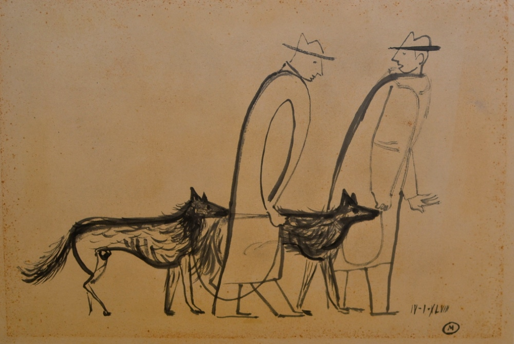 Men and Dogs dated 1948.