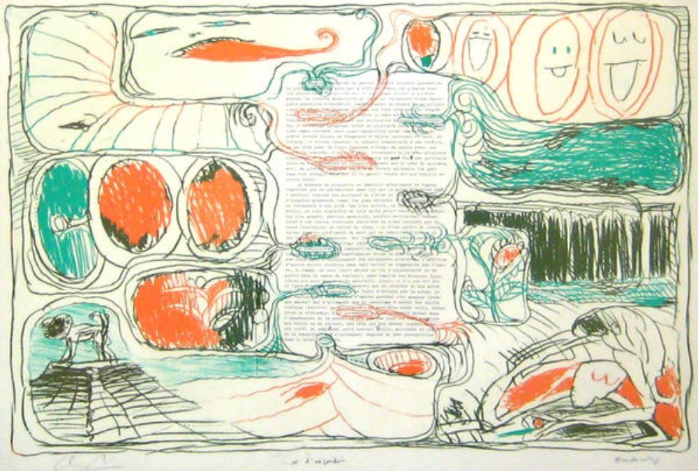De la série Placards – Pour Claude Simon, 1975