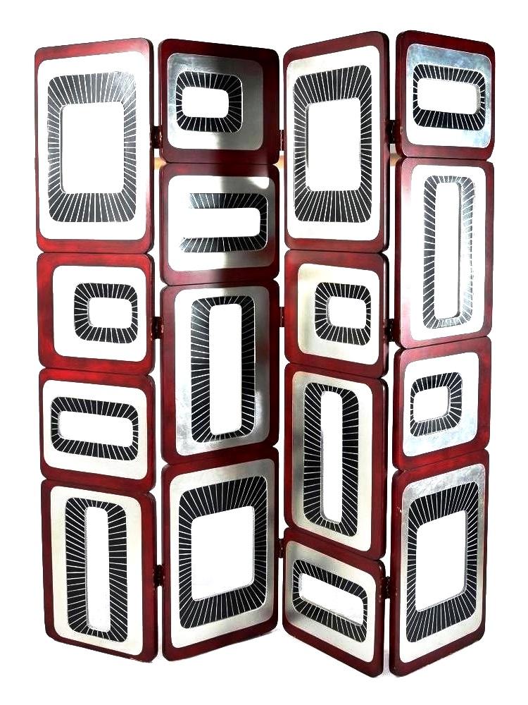 , A four panel screen designed circa 1970
