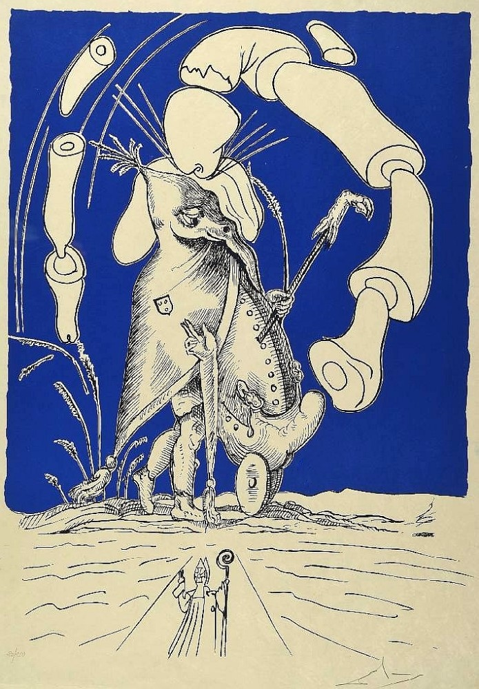 from the suite 'Les Songes Drolatique de Pantagruel' created in 1973