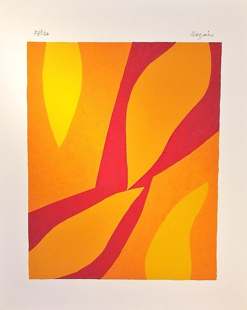 Fondation Xème anniversaire. Composistion in 3 colors, 1974