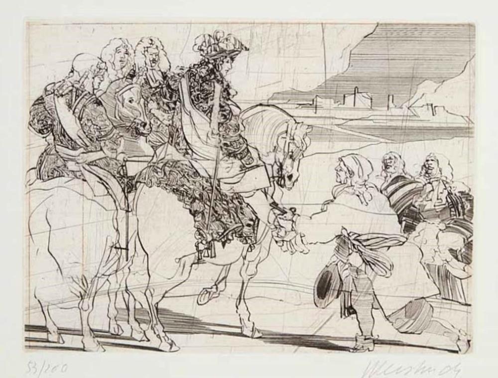 Claude WEISBUCH (1927 – 2014) Gravure – Le grand Siècle, 1981
