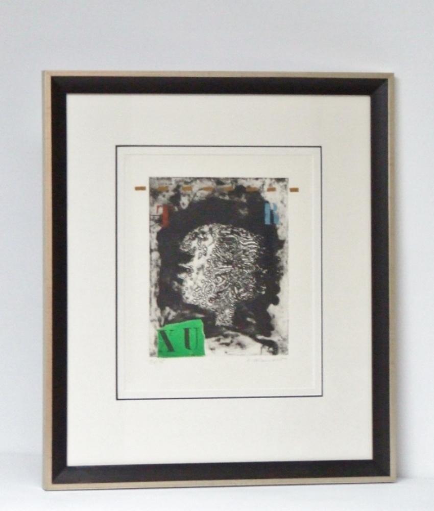"""James COIGNARD (1925 – 2008) Gravure Carborundum – Profil """"TR"""" – 1978 – Avec Cadre – With frame – G"""