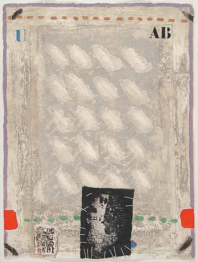 James COIGNARD (1925 – 2008) Rouge et Vert Bloqués et Personnage, 1979 – Copie