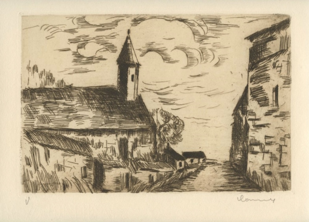 L'église de Fessanvilliers, 1926