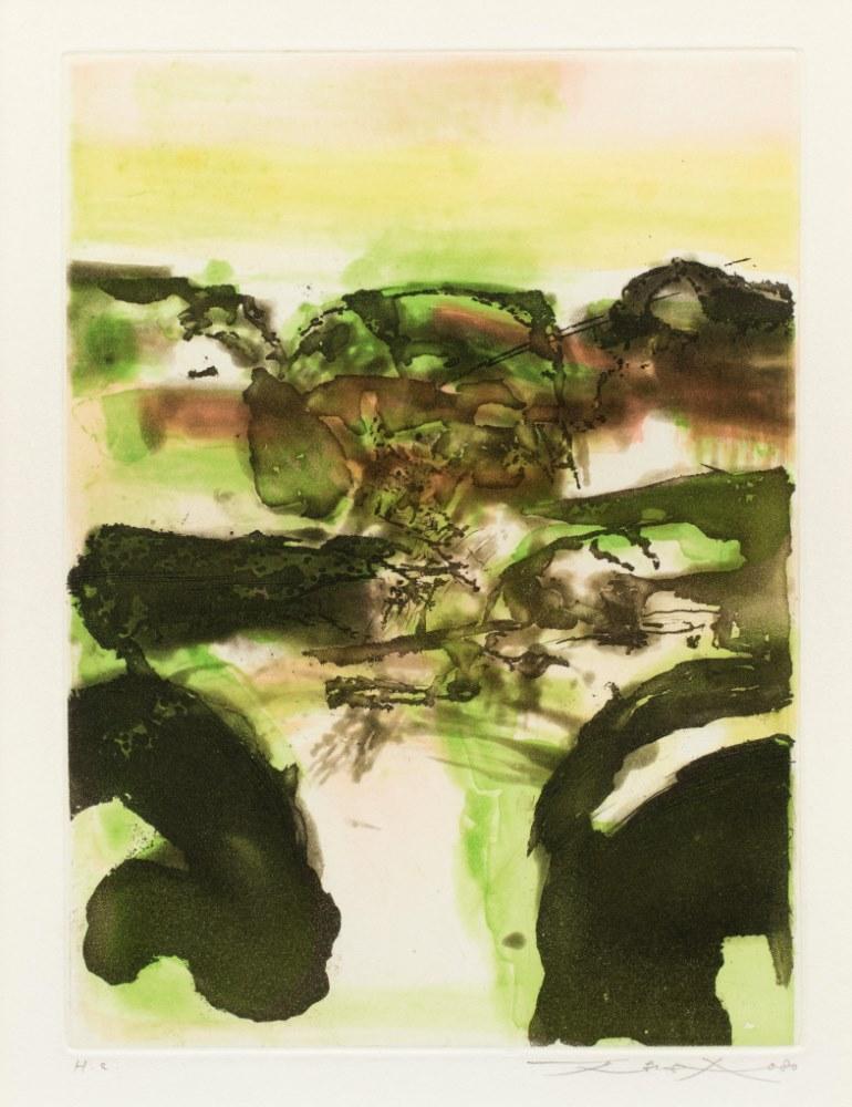 From Beauregard series dated 1980. (black green composition