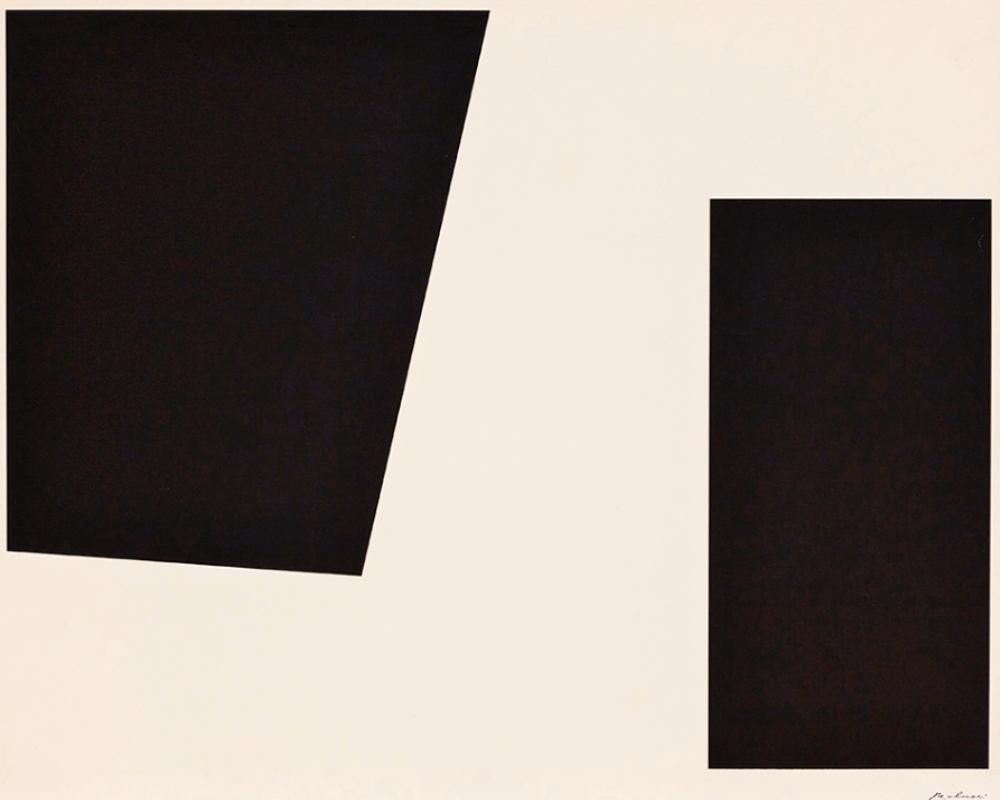 Guido MOLINARI (1933-2004) – Silksreen on paper – 56 x 71 cm