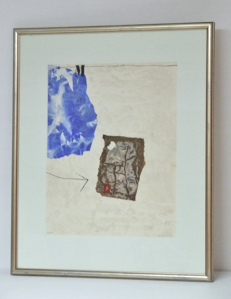Perturbation du blanc, 1981 – (M blue) – (White disturbance)