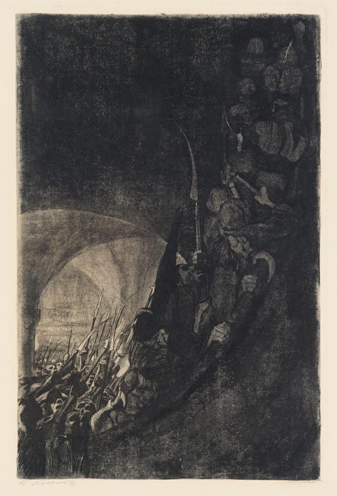 Bewaffnung in einem Gewölbe, 1906 (Arming in a vault)