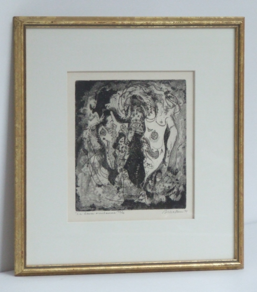 La dame enrubannée (The wrapped lady) dated 1979. (With frame)