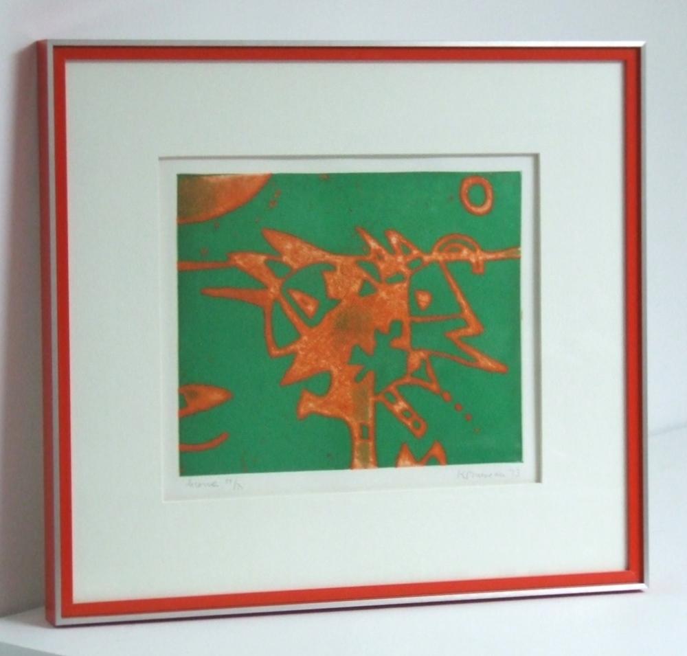 Licorne dated 1973. (Unicorn) With frame