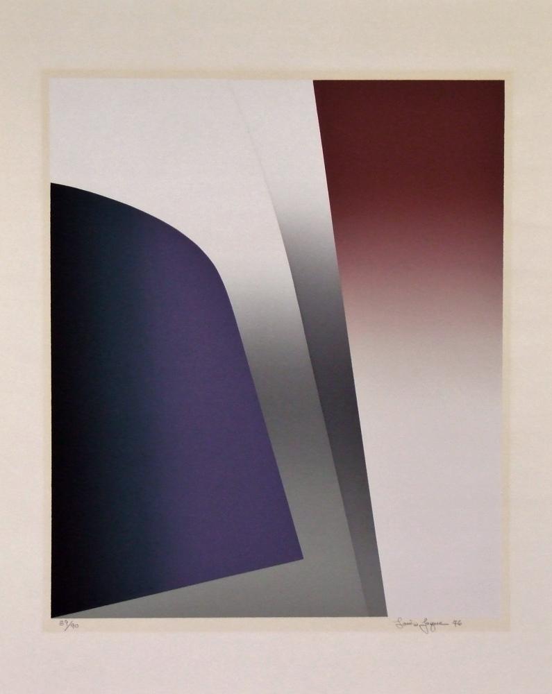 Louis JAQUE (1919 – 2010) Serigraph on Byronic paper – Les dialogues parallèles, 1976 – YLA