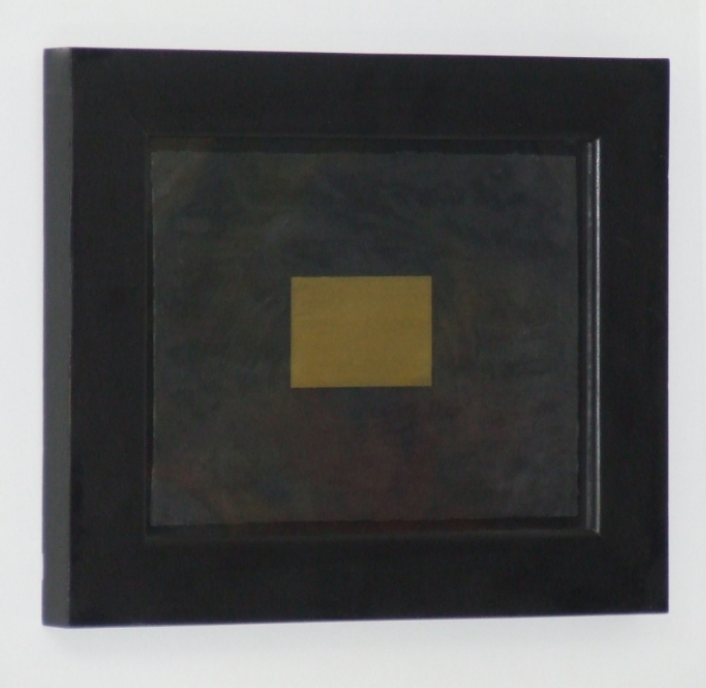 Untitled; Black and gold composition circa 2002 – With frame