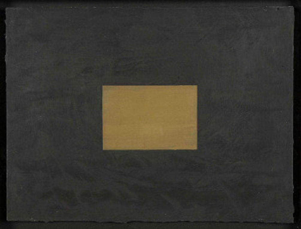 Untitled; Black and gold composition circa 2002