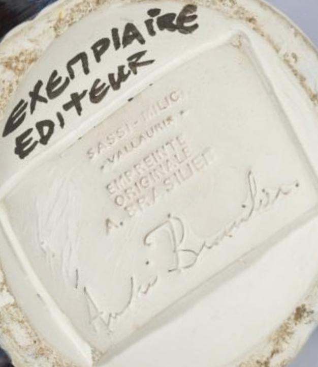 Andre Brasilier – Bottom – Signature et enpreinte