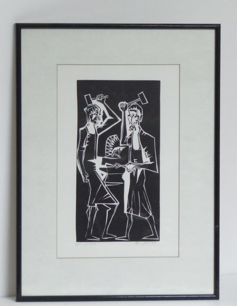 De Smid circa 1965 (The blacksmith) with frame