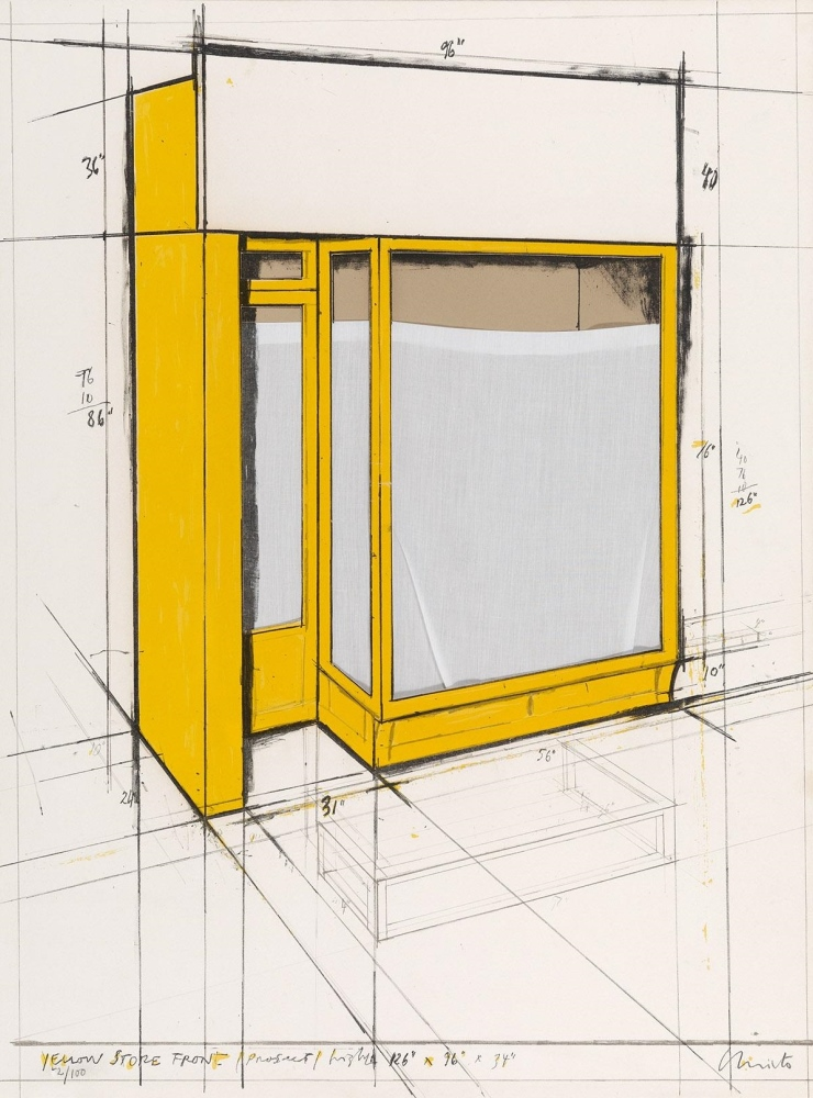 Yellow Store Front Project, 1980.