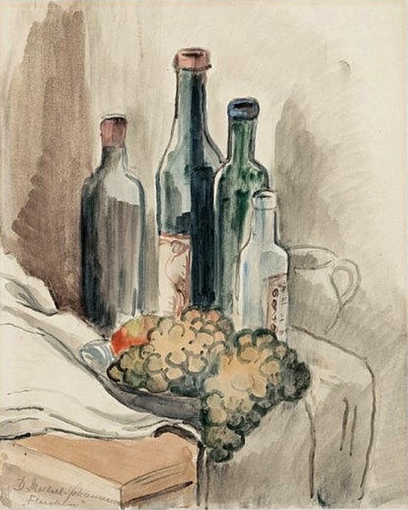 Titled: Still life -Flaschen, 1926 (Bottles)