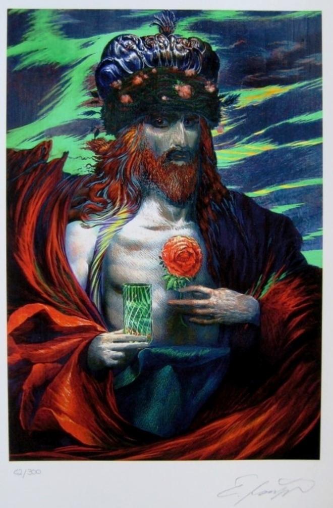 Le roi à la rose