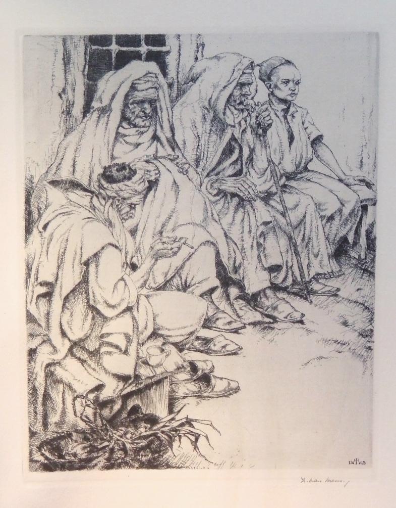 Maghrebian figures, 1945