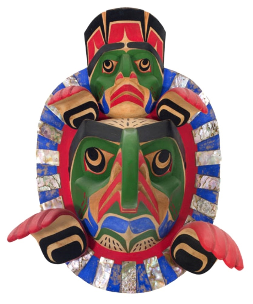 This cedar mask is made by the artist Beau Dick in 1980