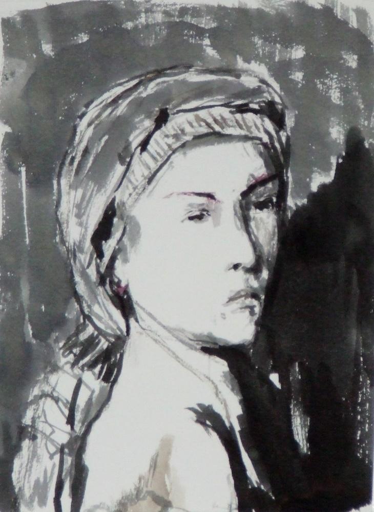 Women with headscarf circa 2014