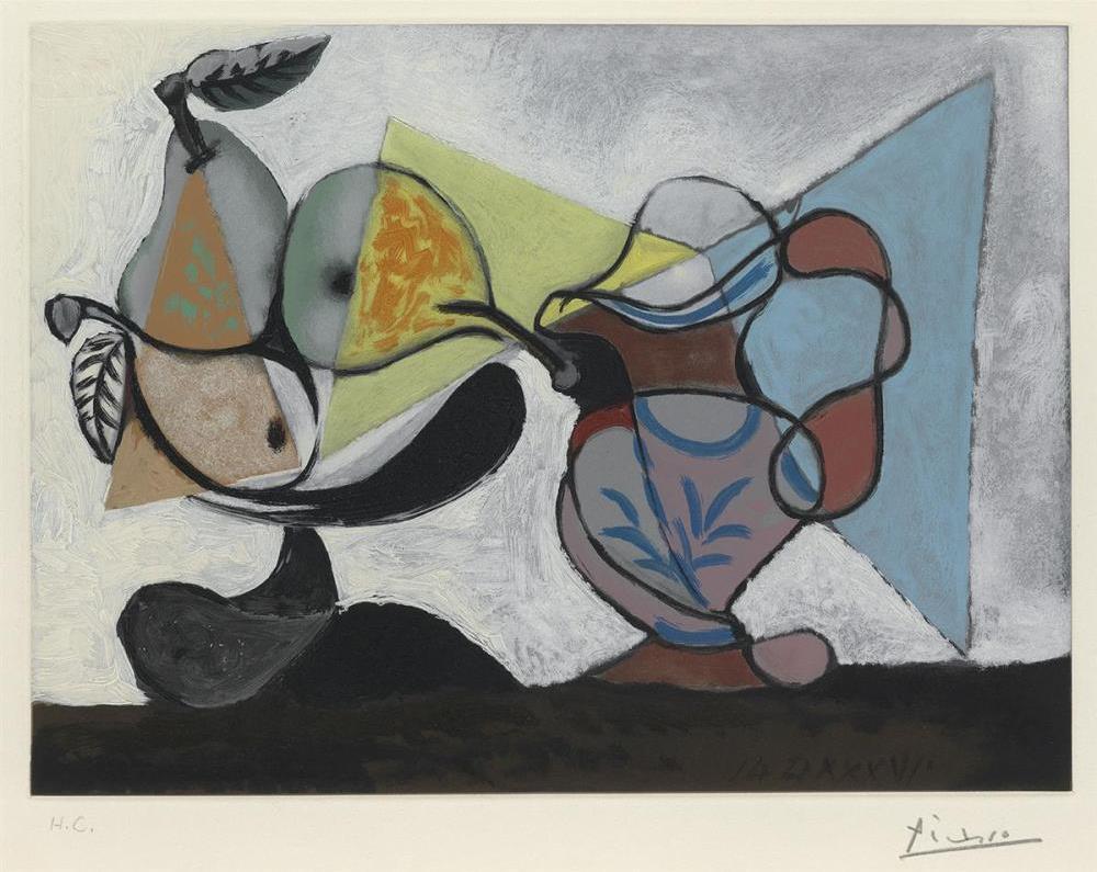 Pablo PICASSO (1881 – 1973) Nature Morte aux Poires et au Pichet.