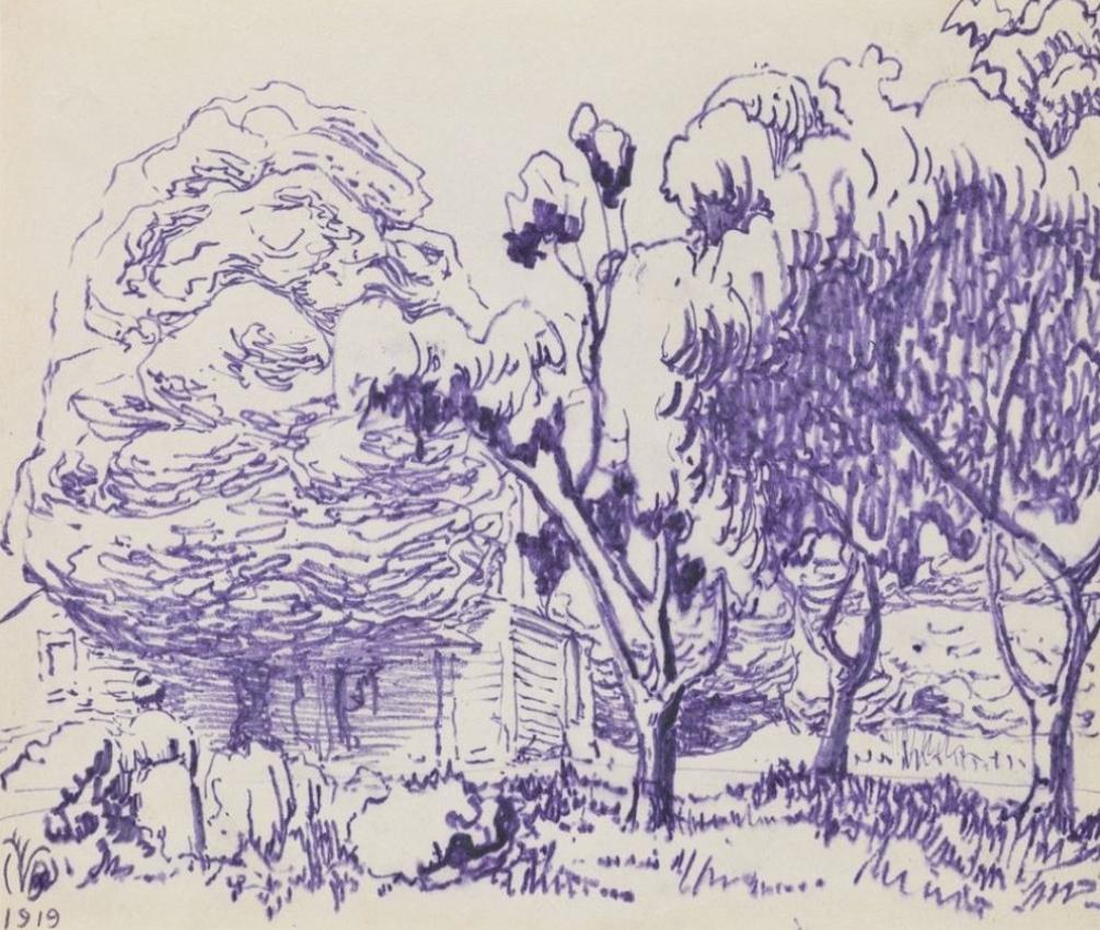 Backyard trees, 1919